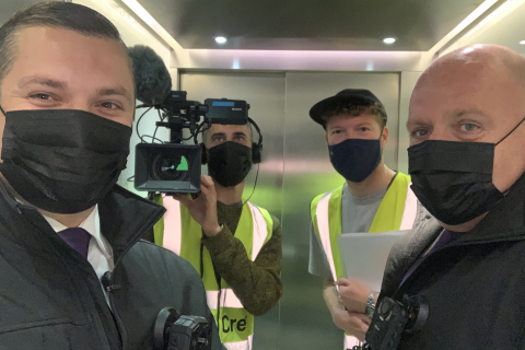 Filming selfie Absolute Enforcement Chris and Mark